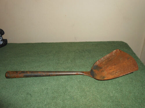 """EARLY ANTIQUE/PRIMITIVE HAND WROUGHT/MADE/FORGED METAL 11 1/4"""" SPATULA"""