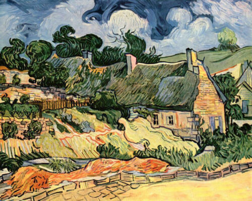 Dream-art Oil painting Vincent Van Gogh - Abstract landscape camp houses canvas