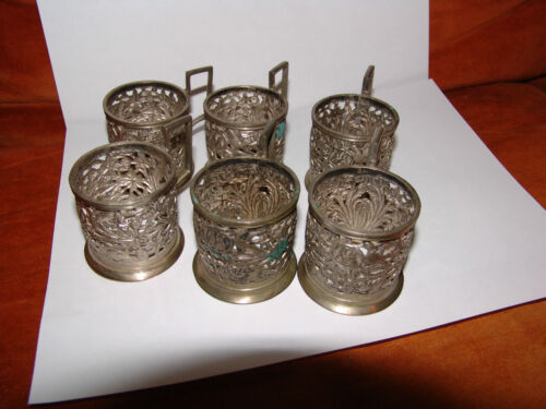 antique ? vintage ? islamic arabic persian  6 cup s silver 84 ?