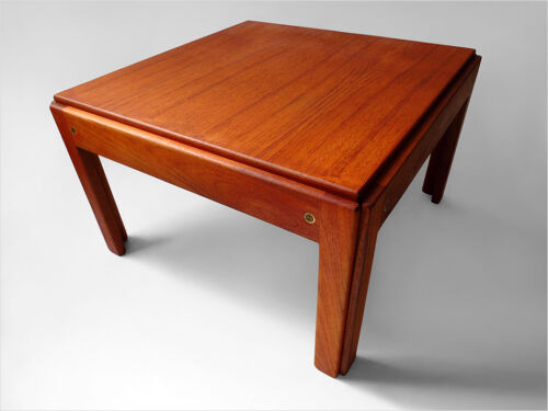 1960 J. ANDERSEN SILKEBORG DANISH-MODERN FINE TEAK WOOD COFFEE TABLE EAMES ERA