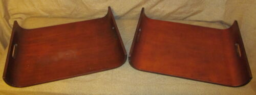 2 Mid Century Modern Bentwood Serving Trays