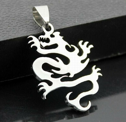 Dragon Necklace Stainless Steel Dragon Pendant Plus 60 cm Ball Chain Necklace