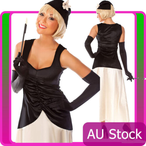 Ladies 1920s Coco Flapper Gatsby Gangster 20s Costume Size 8-18 AU