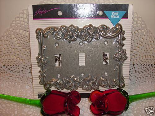 40pc Victorian Antique Vintage Style Rose triple Light Switch Cover Plate outlet