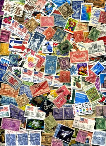 USED lot of 100+ mixed US stamps off paper - GREAT value with a  BONUS Offer! <br/> Commems, Defins, Airmail, SS, HiVals! OVER 1500 SOLD!!!