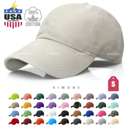 New Visor Solid Washed Cotton Polo Style Baseball Ball Cap Caps Hat Adjustable