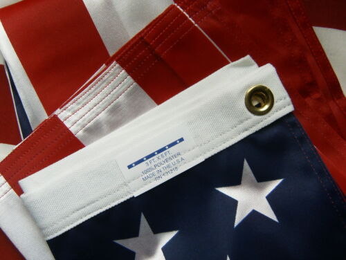 Valley Forge US American Flag 3'x5' ULTRA KNIT Nylon/Poly 100% Made in the USA