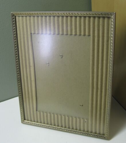 """VINTAGE  BRASS PLATED EASEL BACK PICTURE FRAME 8"""" X 10"""""""