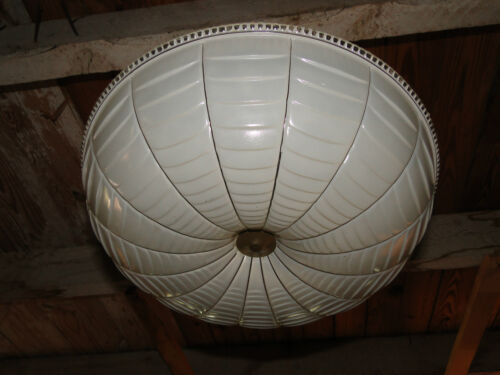 ART  DECO  LIGHTING  FIXTURE WITH SPIDERWEB DESIGN