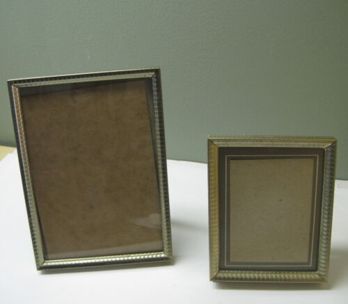"""2 VINTAGE  BRASS PLATED PICTURE FRAME 5"""" X 7"""" and 4"""" x 5"""""""