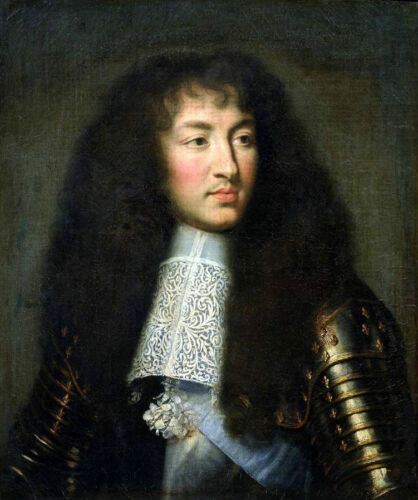Dream-art Oil painting male portrait young man in armor with long hair canvas