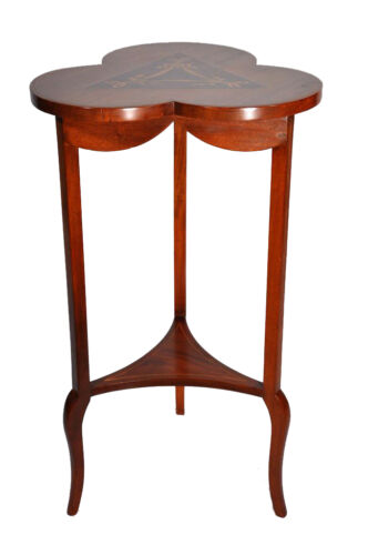 Regency Style Inlaid Mahogany and Marquetry Side Occassional Table c.1900's