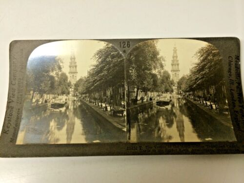 STEREO CARD  CANAL AMSTERDAM NETHERLANDS