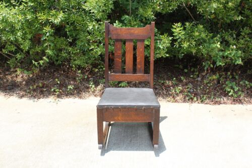 Charming Mission Oak Original Finish Rocking Chair with Sewing Drawer ~Ca.1910