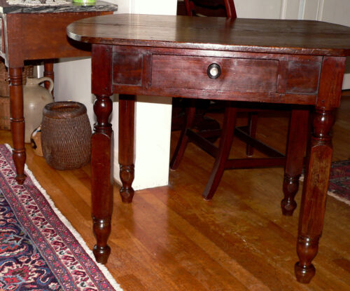 "c19th century rare server / work table, stand, Alabama, yellow pine, 30""t"