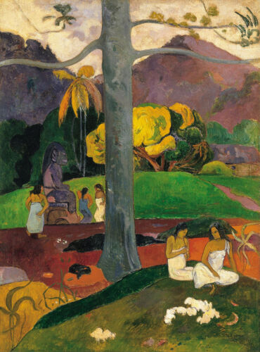 Stunning Oil painting Paul Gauguin - ancient times  Antiquity with women