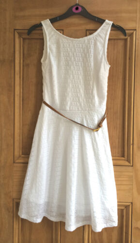 Atmosphere New Ladies White Belted Skater Summer Party Dress Size 6