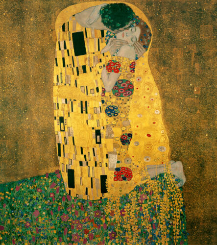 Dream-art Oil painting Gustav Klimt - Abstract young lovers together on canvas