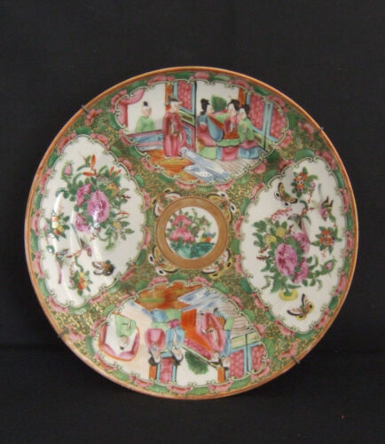 Antique Chinese Famille Rose  Porcelain Plate Circa 1900-1920