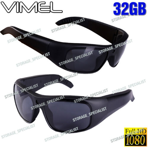 SunGlasses Camera 32GB Ski Sport Waterproof 1080P Glasses Bike Action