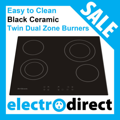 Brand New 60cm Ceramic Cooktop Electric Hob Stove Cook Top Black Glass EasyClean <br/> With Child Lock & Digital Timer - Full 2 Year Warranty