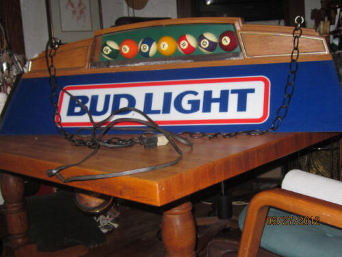 Budweiser Pool Table Light Antiques Us