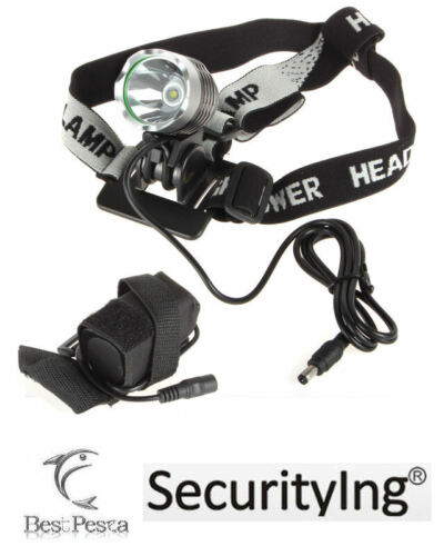 SECURITYING - LAMPADA FRONTALE S15 - LED CREE tipo XM-L T6 - 1200 lumen