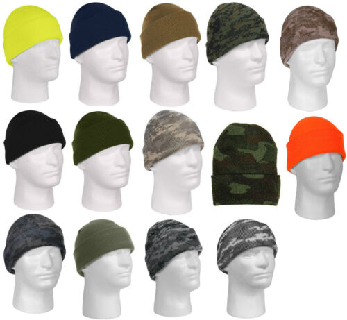 a5f66e9e6d2 Beanie Watch Cap Fine Knit Acrylic Cold Weather Rothco 5788 5787 5789 5702  5714