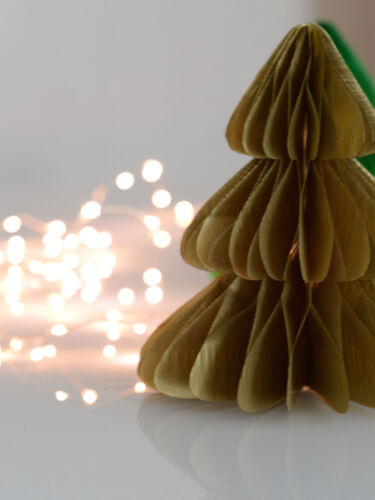 Shimmerry -metallic Christmas tree tissue paper Honeycomb decorations -christmas