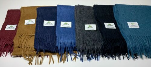 Lacoste Cashmere & Wool Green Scarf