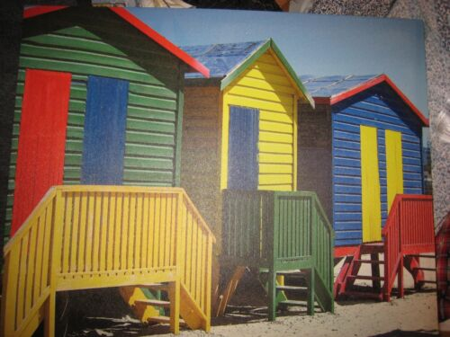 cape town colorful cabana painting wall Art