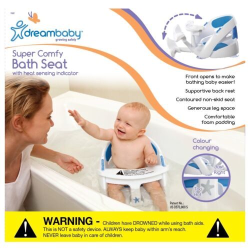 New Dreambaby Padded Premium Deluxe Baby Safety Bath Seat With Sensor Dream