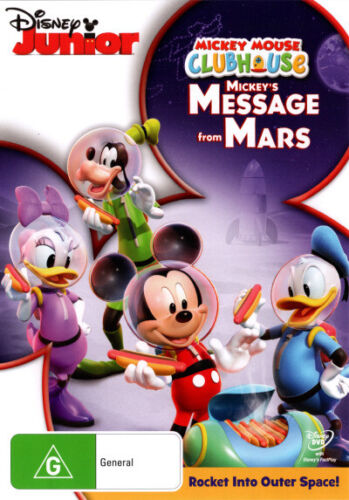 Mickey Mouse Clubhouse: Mickeys Message From Mars  - DVD - NEW Region 4