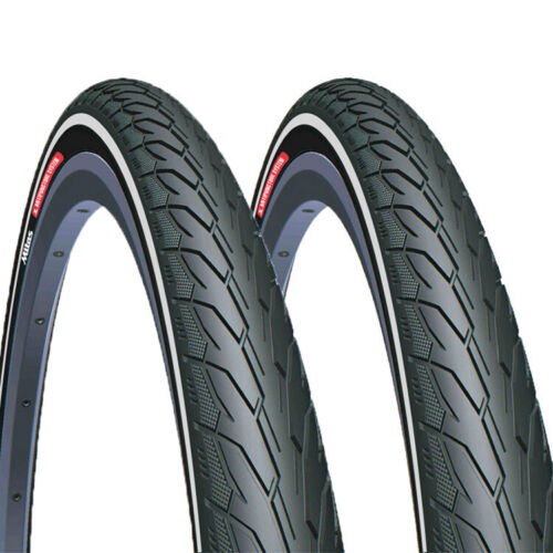 Pair of ANTI-PUNCTURE Bike Tyres 700 x 28, 32, 35, 40 - 26 x 1.5, 1.75