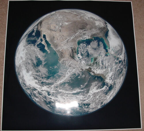 PLANET EARTH FROM SPACE POSTER PRINT 36x36 BIG HI RES 9 MIL PAPER