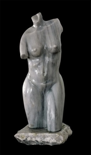 Scultura Busto NUDO DONNA Marmo Antiquariato DESIGN Marble VINTAGE ART Sculpture