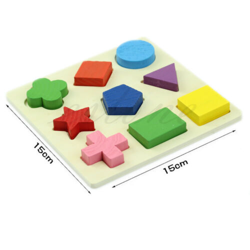 Kids Baby Montessori Early Wooden Educational Learning Toy Geometry Block Puzzle