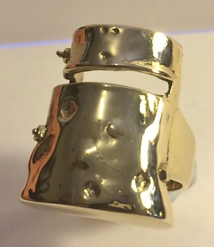 """2015 Stunning """"Ned Kelly""""  Men's Dress Ring (Size 11) Finished in 999 24k Gold"""