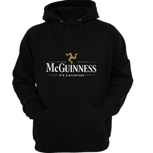 John McGuinness inspired `TT LEGEND` Hoodie in black size small to xxl