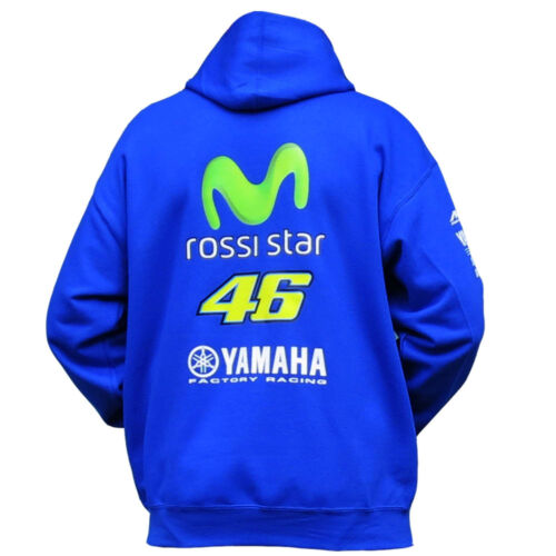 `ROSSI STAR`  46 rossi movistar Moto Motorcycle Hoodie blue Sizes sm to XXL