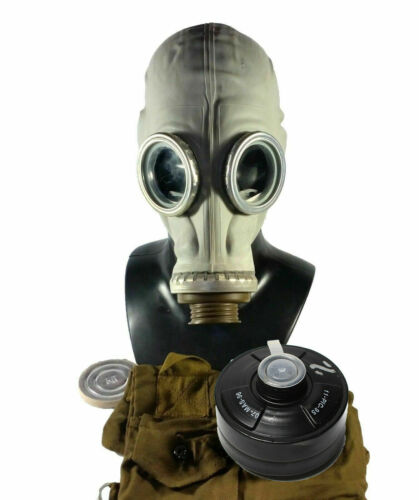 Soviet russian military Gas mask GP-5 Grey rubber Full set NEW NATO Filter CFF3Gas Masks - 158440