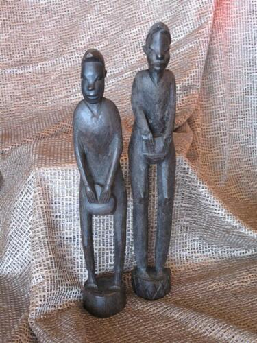 Old African Wood Carvings… possible ebony...