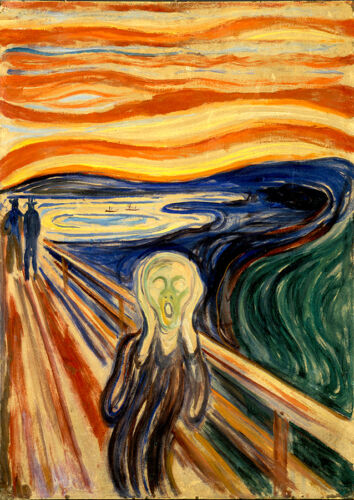 Edvard Munch The Screem giclee 8X12 reproduction print on canvas art poster