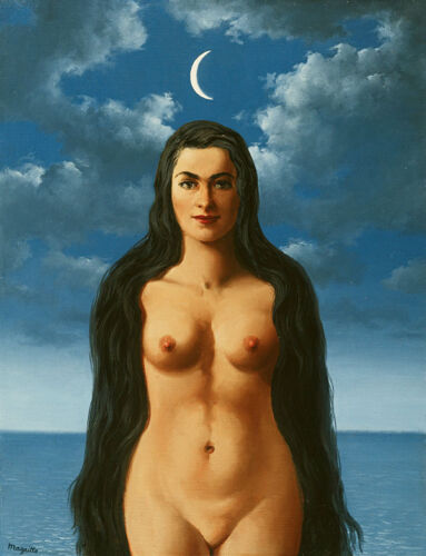Rene Magritte Dress Galatea giclee 8X12 canvas print reproduction art poster