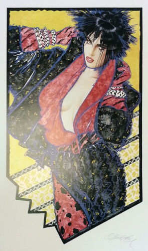 """OLIVIA DE BERARDINIS """"AFTER HOURS""""   SIGNED LITHOGRAPH   37X27""""   COA   SEE LIVE"""