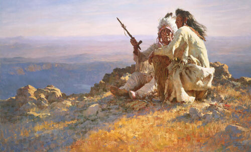 """""""TELLING OF THE LEGENDS"""" LIMITED EDITION ARTISTS PROOF BY HOWARD TERPNING"""