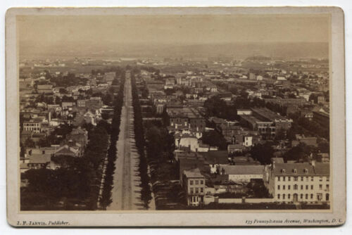 LATE 1800s AERIAL VIEW WASHINGTON DC.LOOKING EAST FROM CAPITOL DOME REPRINT 8x10