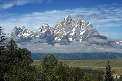 GRAND TETONS WYOMING MOUNTAIN LANDSCAPE POSTER STYLE A 24x36 HI RES 9MIL PAPER