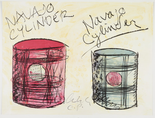 Original signed RARE Dale Chihuly Two Navajo Cylinders 2001 documentation HUGE