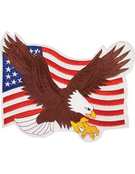 "N-470 Eagle On U.S. Flag 10""Other Militaria - 135"